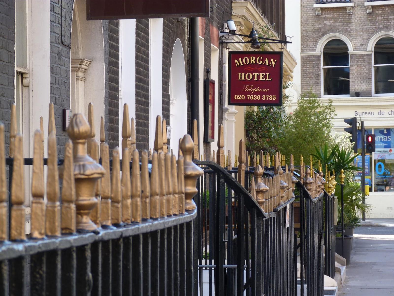 London railings and the Morgan Hotel