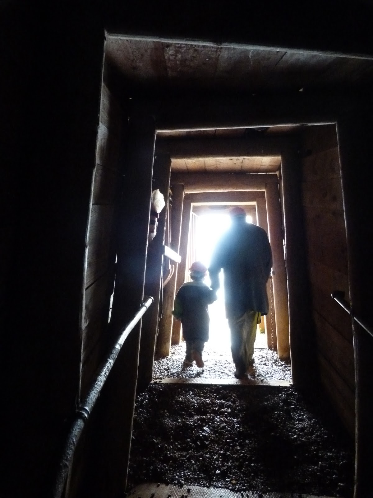 Leaving the shaft at Geevor Tin Mine Cornwall