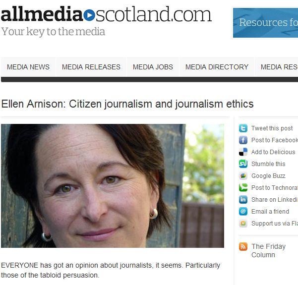 Ellen Arnison All Media Scotland