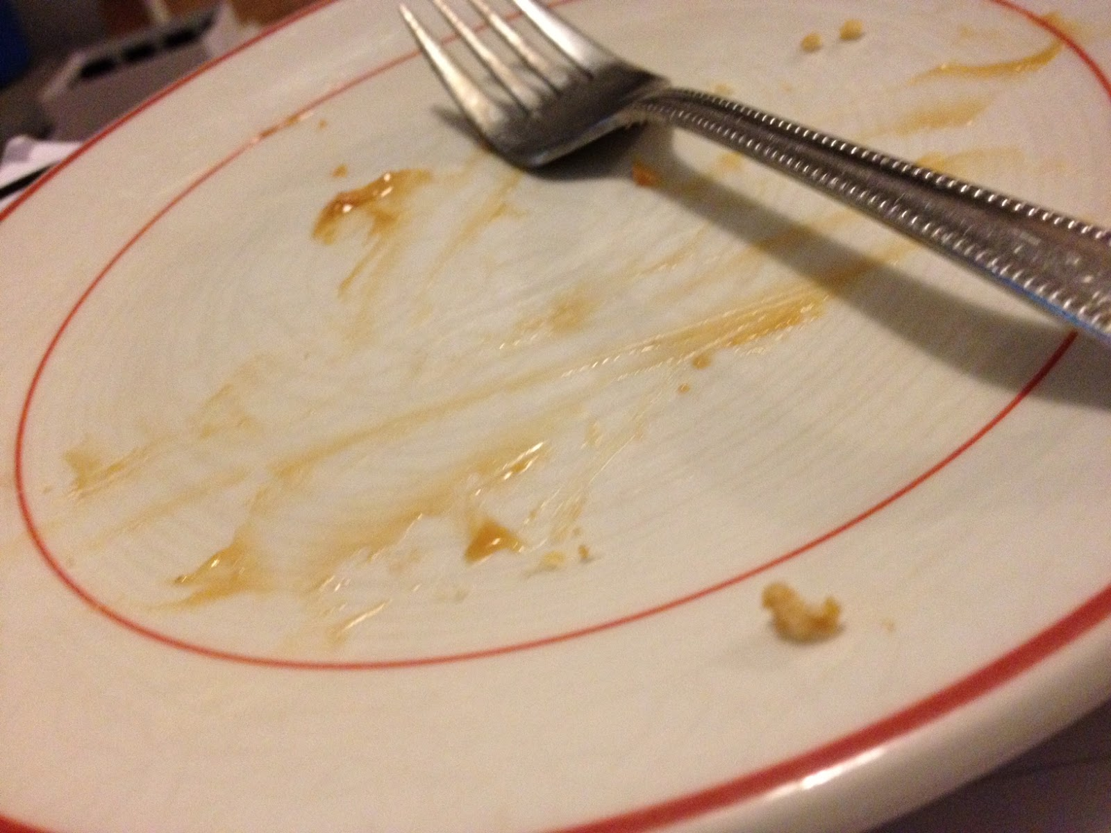 A plate scraped clean