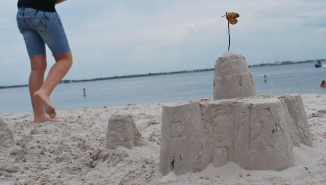 sandcastle on the beach
